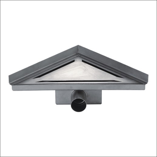 Sanipro Side Outlet  Triangular Drain  Against Wall