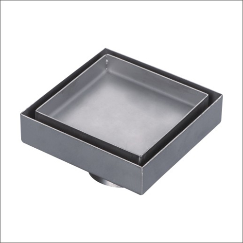 Sanipro Tile Insert Vertical Outlet Square Drain without Flange