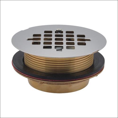 Sanipro 2-Inch Brass No Caulk Shower Drain with 4 1/4