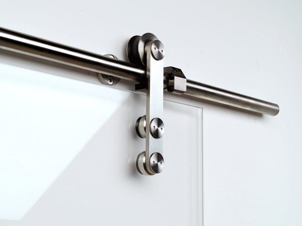 Sanipro Modern stainless steel sliding barn door hardware