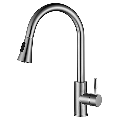 Sanipro Pull down stainless steel kitchen faucet